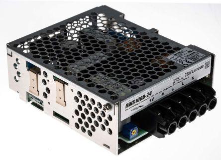 TDK-Lambda Alimentatore switching integrato  RWS-100B-24, 108W, ingresso 120 → 370 V dc, 85 → 265 V ac,, RWS100B-24