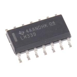 Texas Instruments Comparatore  4 canali alimentazione singola e duale SOIC 14 Pin, LM339D