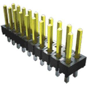 Samtec Connettore maschio , 2 vie, 1 fila, passo 2.54mm, TSW-102-25-T-S-RA