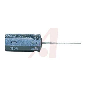 Nichicon Condensatore  serie VR 2.2μF ±20%, 50V cc, +85°C, Su foro, UVR1H2R2MDD