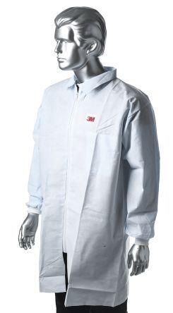 3M Camice da laboratorio Monouso  Unisex, tg. XL, in PE, Bianco, 4440ZXL