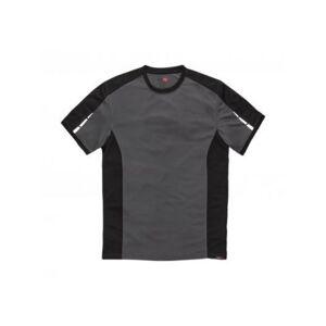 Dickies T-shirt Poliestere Grigio/nero per Uomo DP1002 M M Corto, DP1002 GYB M