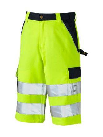 Dickies Pantaloncini di sicurezza di col. Giallo/blu navy  SA30065, vita da 80 → 84cm per uomo, SA30065 YLN 46/32