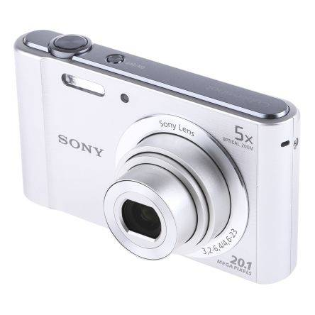 Sony Macchina fotografica digitale Argento 2.6poll LCD With Built-in-Flash 20.1MP No No, DSCW800S.CEH