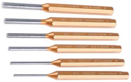 Gedore Set punzoni , tipo Pin, Ø gambo 10,0 mm, 6 pezzi, 116 A