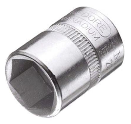 Gedore Bussola Esagonale  , 12mm, attacco Quadrato 1/4 poll., lunghezza 25 mm, Acciaio al vanadio, 20 12