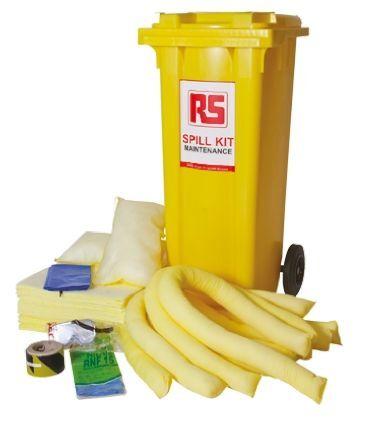 RS PRO Kit controllo perdite  500 x 735 x 1065 mm, capacità assorbente 240 L, per Industria chimica