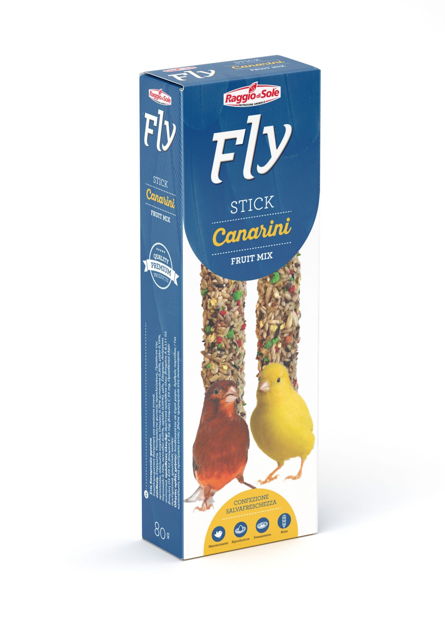 raggio di sole fly stick per canarini fruit mix 80g