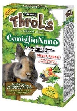 throls coniglio nano con ortaggi e frutta secca 750g