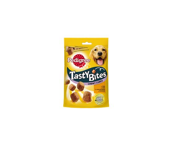 pedigree tasty bites chewy cubes 130g