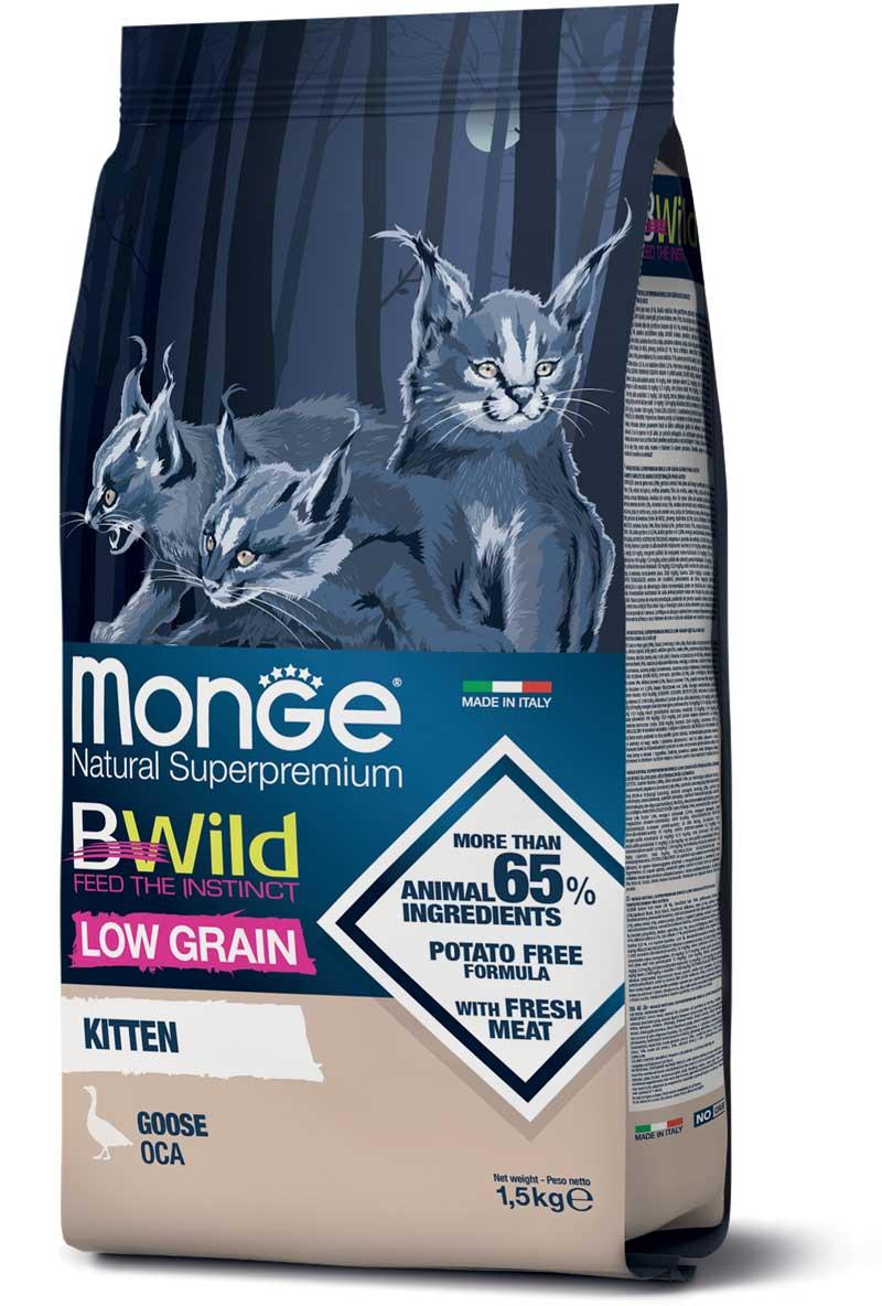 monge bwild kitten low grain con oca 1,5kg