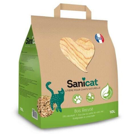 sanicat lettiera vegetale riciclabile per gatti 10l