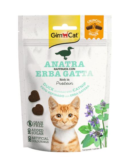 gimborn gimcat crunchy snack gatto anatra raffinata con erba gatta 50g
