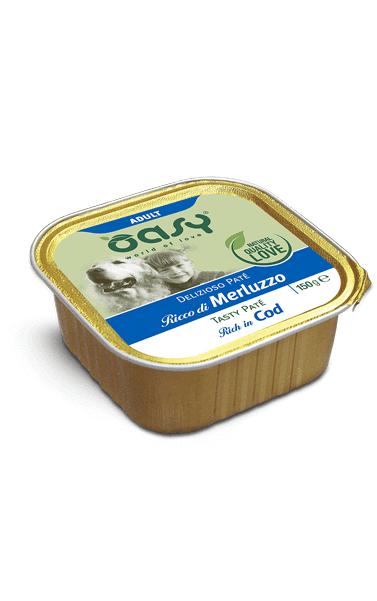 Oasy Cane Delizioso Paté Ricco Di Merluzzo 150g