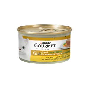 Purina Gourmet Gold Gatto Patè Con Verdure Con Pollo, Carote E Zucchine Lattina 85g