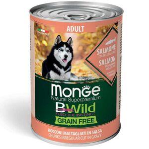 Monge Bwild Dog Adult Grain Free - Bocconi Maltagliati In Salsa Con Salmone, Zucca E Zucchine 400g