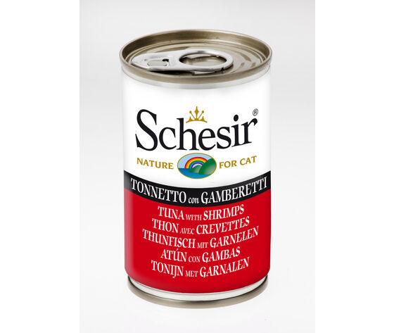 Schesir Gatto Tonnetto Con Gamberetti 140g