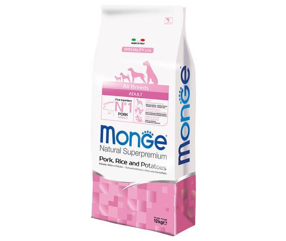 Monge All Breeds Adult - Maiale Riso & Patate 12 Kg