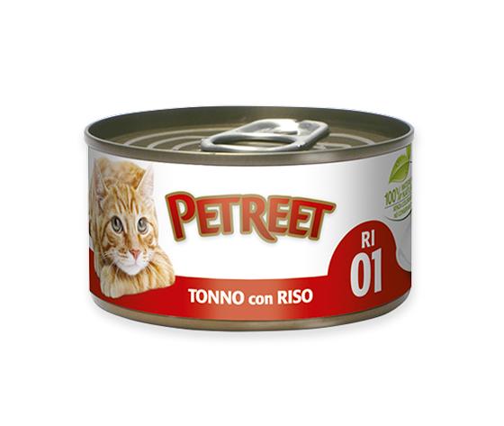 Petreet Tonno Con Riso 85g