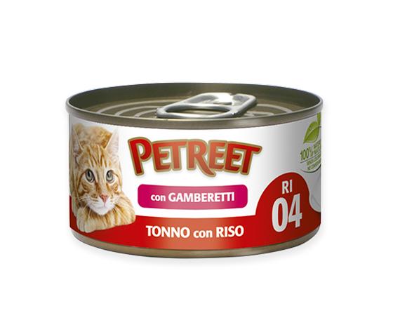 Petreet Tonno Con Riso E Gamberetti 85g