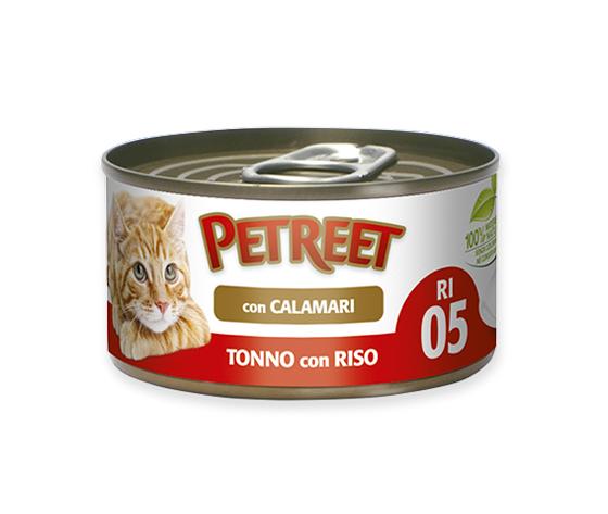 Petreet Tonno Con Riso E Surimi Al Gusto Calamari 85g