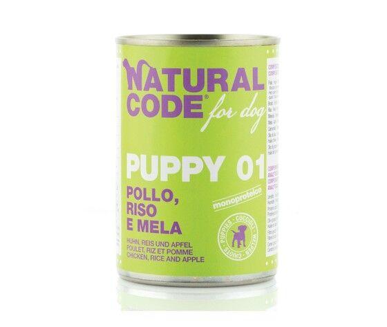 natural code puppy pollo riso e mela 400 g