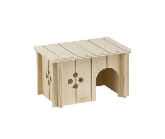 ferplast casetta per criceti in legno sin 4642