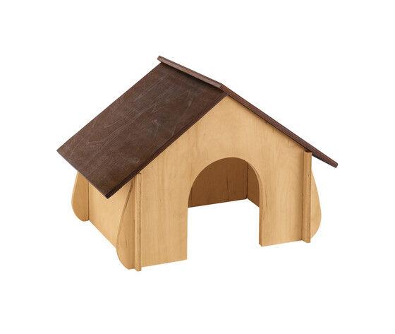 ferplast casetta per conigli in legno ecosostenibile sin 4650
