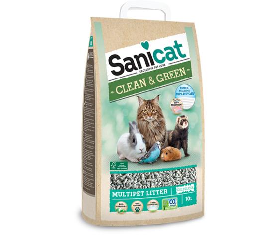 tolsa sanicat lettiera per gatti ecologica clean & green in cellulosa 10l