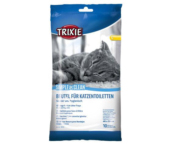 trixie ricambio sacchetti igienici per lettiera di gatti 10 pezzi