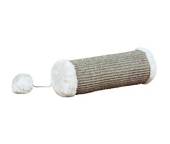 trixie tiragraffi cilindro morbido grigio 10x28 cm