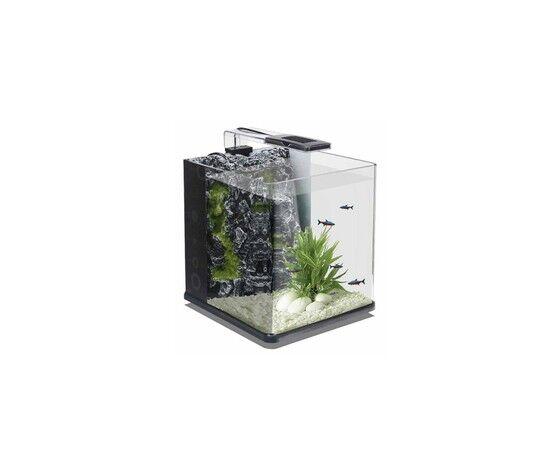 mantovani acquario in vetro nanux rock nero - 18lt