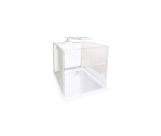 mantovani acquario in vetro nanux bianco - 18lt