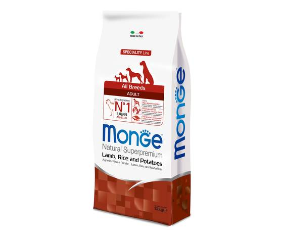 Monge All Breeds Adult Agnello, Riso & Patate 12kg