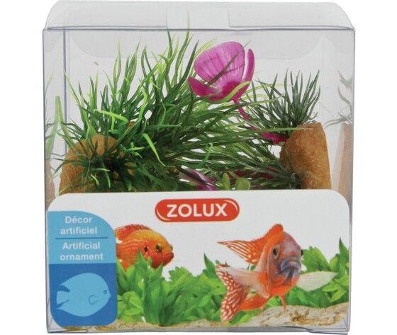 zolux decorazione acquari mix 4 piante box modello 1