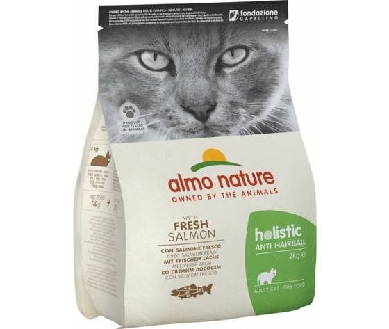 Almo Nature Holistic Cat Anti-Hairball Con Salmone Fresco 2kg