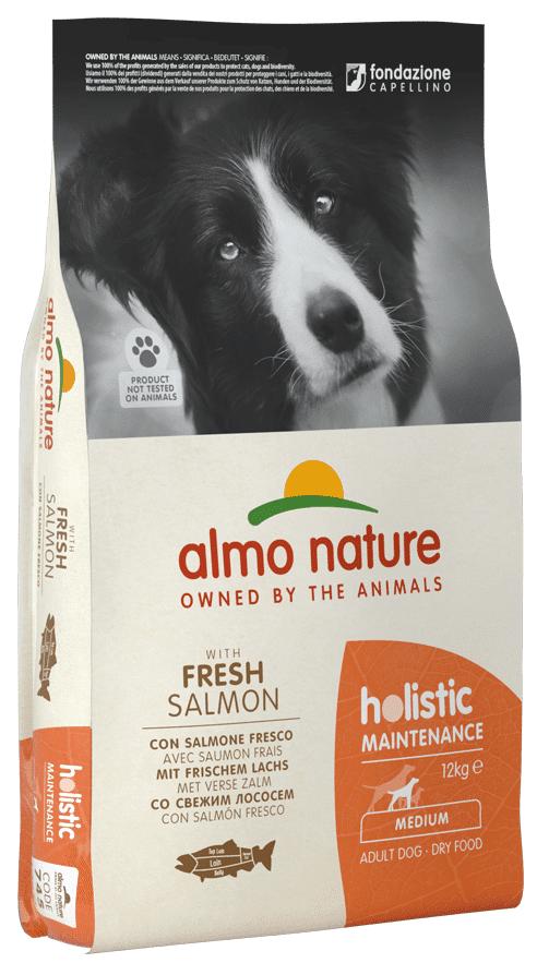 Almo Nature Holistic Medium Adult Dog Con Salmone Fresco 12kg