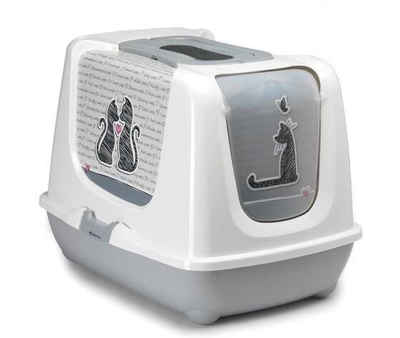 Zodiaco Cat'S In Love Porta Lettiera Igienica Per Gatti Trendy 57x45x43h Cm