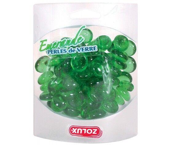 zolux decorazione acquari perle di vetro smeraldo 20x4x15 mm