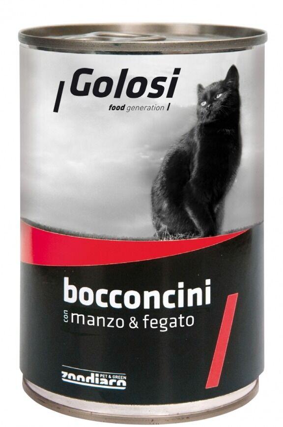 Golosi Gatto Bocconcini Manzo & Fegato 405g
