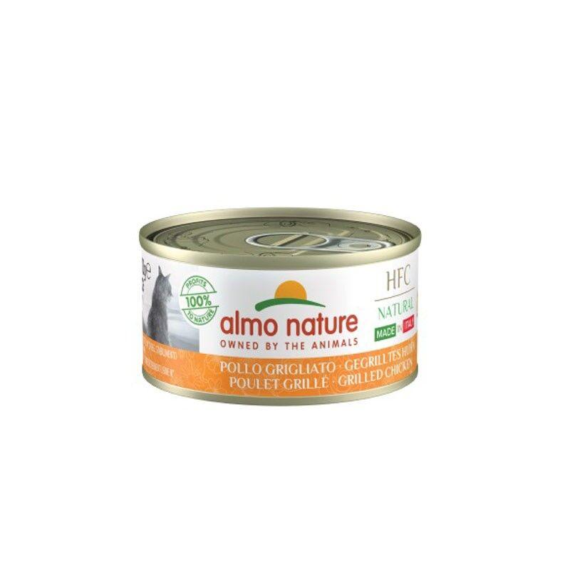 almo nature hfc natural made in italy per gatto adulto con pollo grigliato 70g