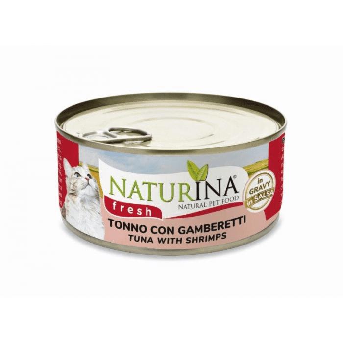 Naturina Gatto Fresh Tonno E Gamberetti 70g