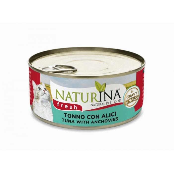 Naturina Gatto Fresh Tonno E Alici 70g