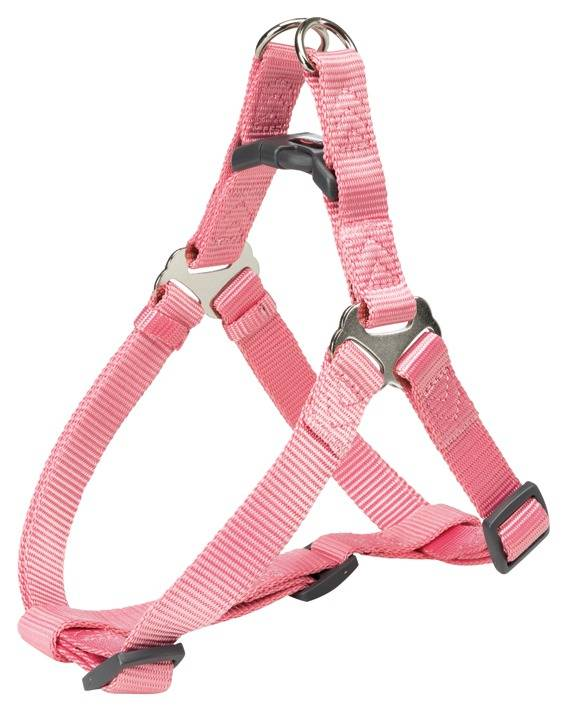 trixie pettorina cani premium easy m 50-65cm-20mm rosa