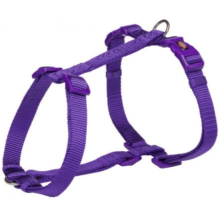 trixie premium pettorina per cani l-xl 75-120 cm 25mm viola