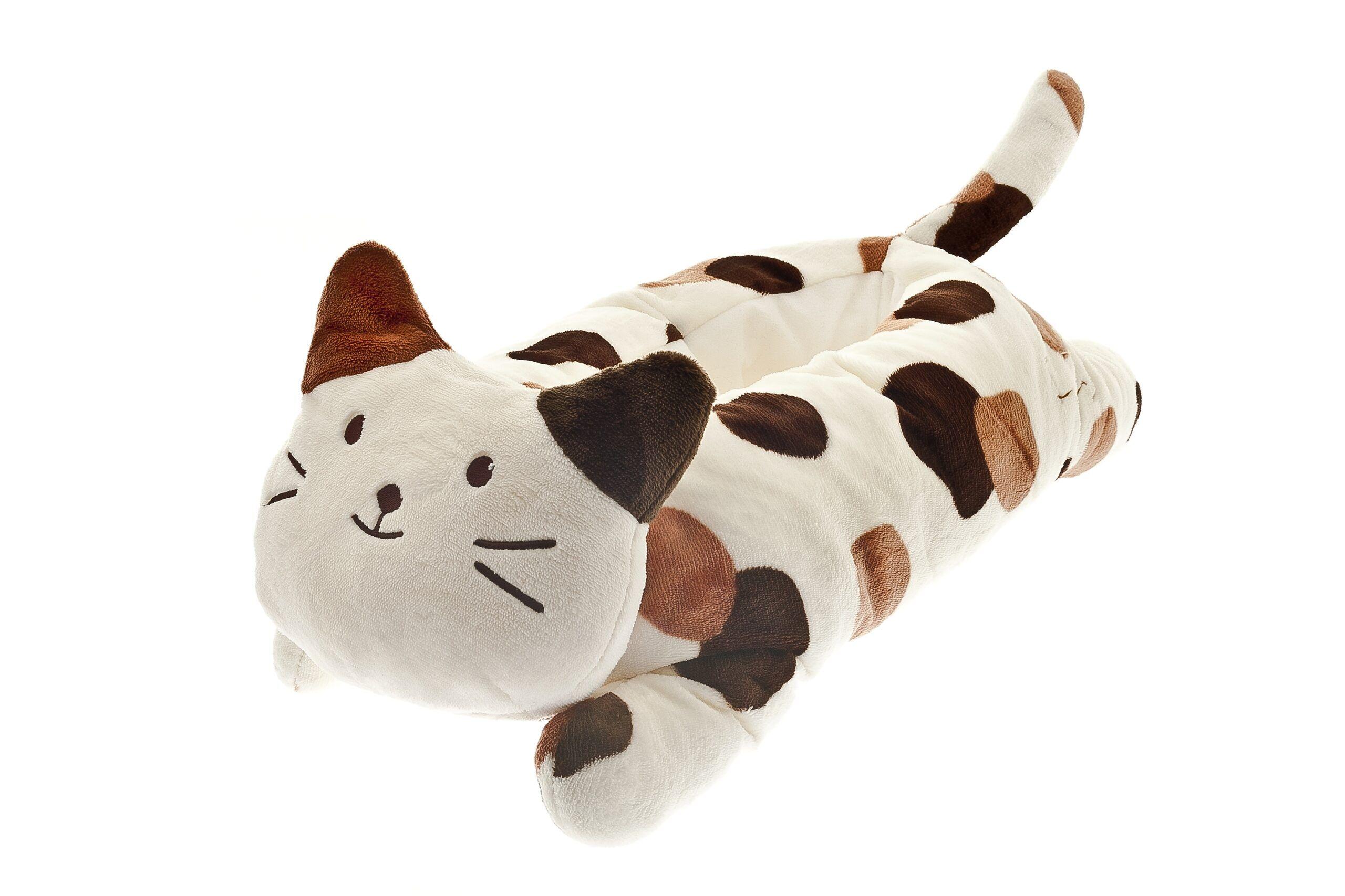 ferribiella cuccia da gatti a forma di gatto maculata 115x45x30 cm