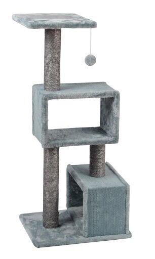 ferribiella tiragraffi biglie big grigio e azzurro con pallina 45x36x99 cm
