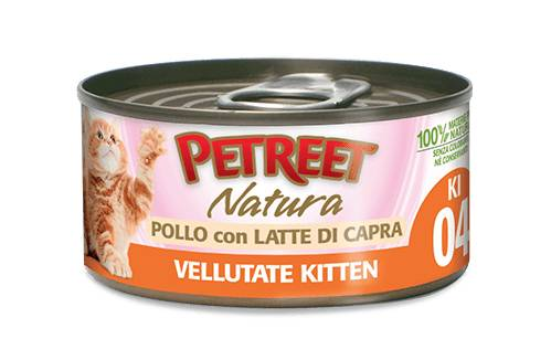 Petreet Natura Le Vellutate Kitten Pollo Con Latte Di Capra 70g