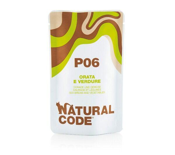 Natural Code P06 Per Gatto Con Orata E Verdure 70g