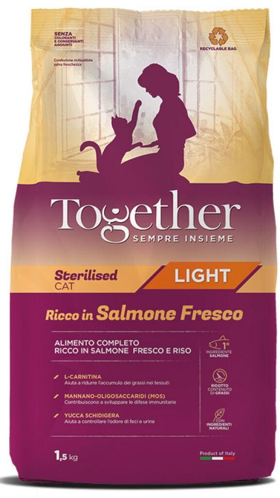 Together Cat Adult Sterilised Light Ricco In Salmone Fresco 1,5kg
